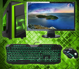 "NEW!! Full System 22"" Screen 8GB Core i5 GTX 1050Ti 1TB & SSD New Gaming case 3yr warranty"