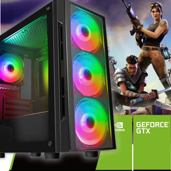NEW!!! FORTNITE STEAM METIS GAMING PC - connects to TV or monitor GTX 1650 or GT 1030  AC108