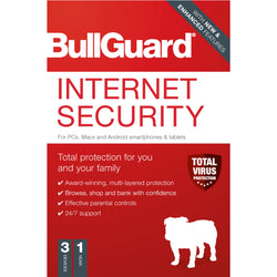 ADD ON ITEM: Bullguard Internet Security 2020 1 year 3 device Software