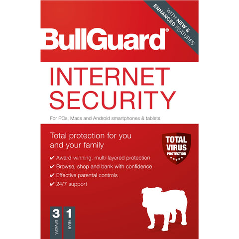 ADD ON ITEM: Bullguard Internet Security 2020 1 year 3 device Software SPO