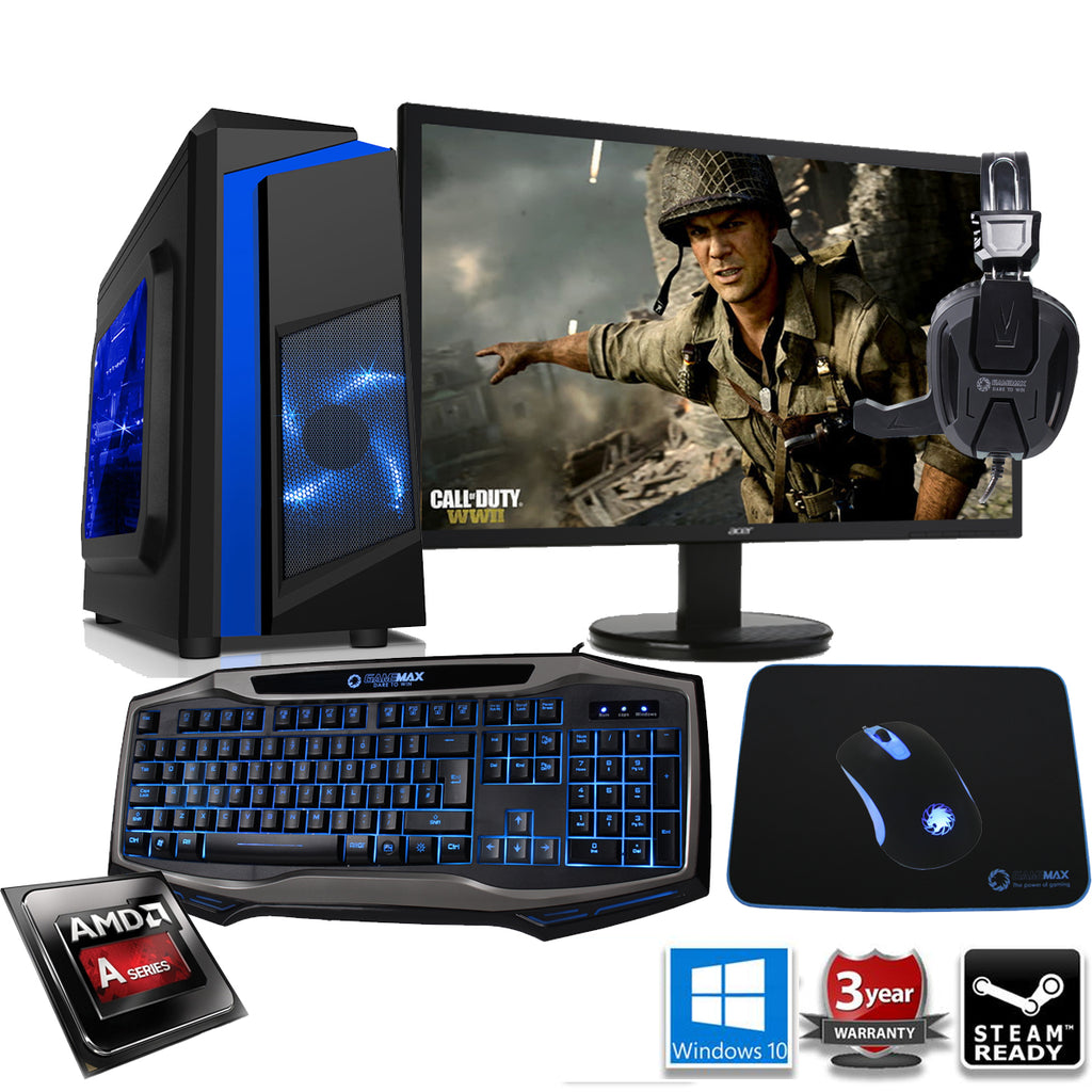 NEW!! CLEARANCE DEAL AMD R7 Entry Gaming PC with Monitor Keyboard Mouse  Headset