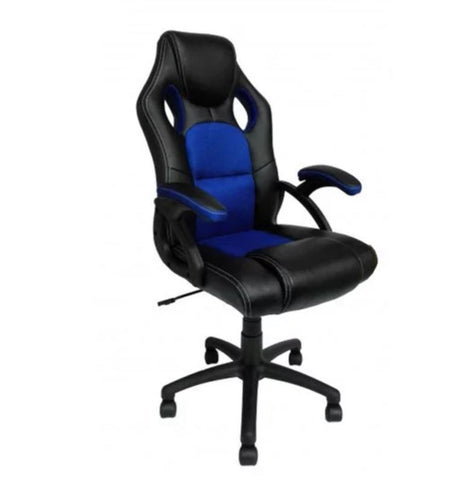Gaming Chair Office Racing Style Height Adjustable - Blue, Yellow, Black, Green or Red