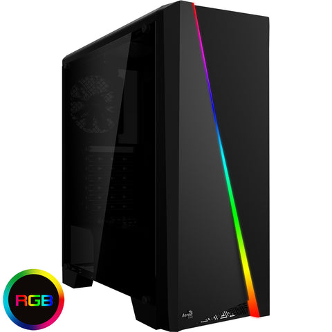 NEW!! Core i7 Colour Changing PC Tower 8GB GT 1030 SSD HDD SPO - 3 year warranty