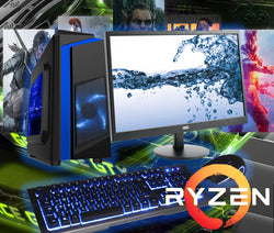 NEW!! RYZEN 5 2600 Full Gaming PC System GTX 1650 with HD Screen AC167