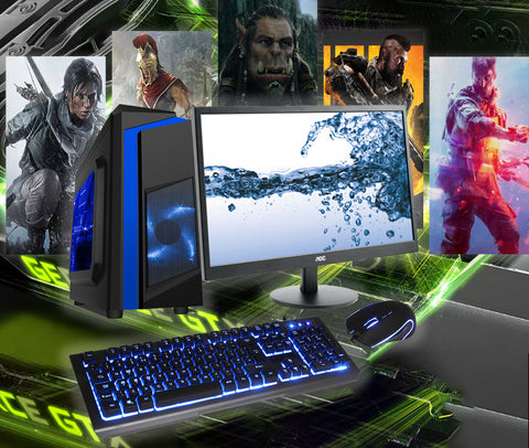 ALL NEW!! Full System Intel Coffee Lake Core i3 i5 or i7 with 8GB or 16GB GT 1030 GTX 1050 1050Ti or GTX 1060 3 or 6GB