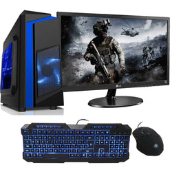 "NEW!! Intel Core i5 8GB GTX 1650 SUPER Gaming PC setup with 22"" Screen AC136"
