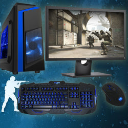 NEW!! SPO Intel Core i5 Full Gaming PC 8GB nVidia Geforce GT 1030 refurbished in new gaming case 3 year warranty