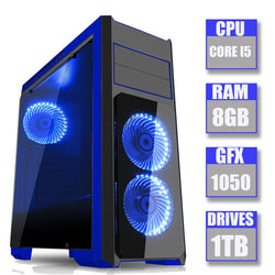 ONE OFF SPO DEAL - Flash Blue Intel Core i5 3470 8GB Memory GTX 1050 Ti Graphics Card