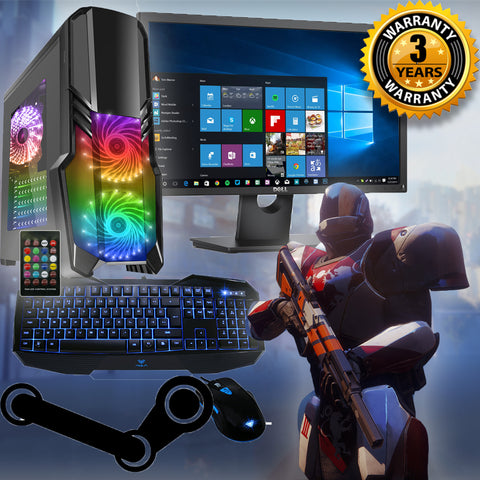 "GAMING PC FULL SETUP DEAL & 19"" SCREEN - 3yr Warranty Ideal Starter"