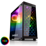 Computer Case GameMax Polaris Black Midi Tower RGB Glass