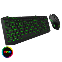 Pulse 7 Colour RGB Illuminated Keyboard & Mouse