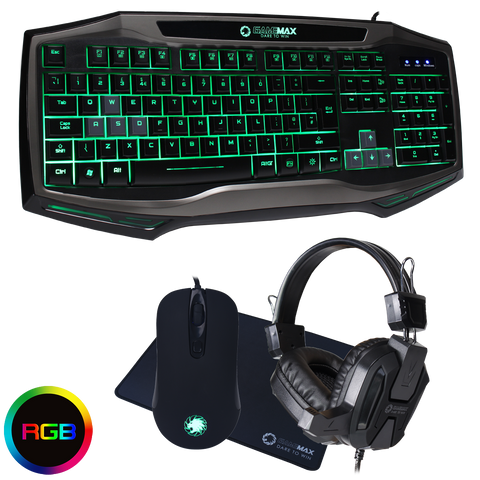 Raptor RGB Keyboard Mouse & Headset Combo