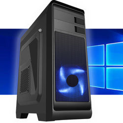 Core i5 8GB Intel HD GPU Internally Refurbished in New Gaming PC case 3yr warranty
