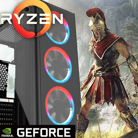 RGB 3400 RYZEN GT 1030 GTX 1650 1660 TI GAMING PC 8GB 1TB SPO AC345