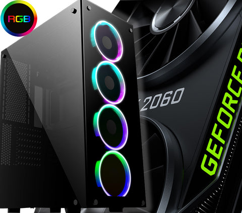 GeForce RTX 2060 PC Intel Core i5 8GB or 16GB with SSD RGB Glass Predator Case