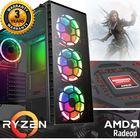 NEW!! Ryzen 3600 Radeon RX 570 580 RGB 16GB Gaming PC AC271