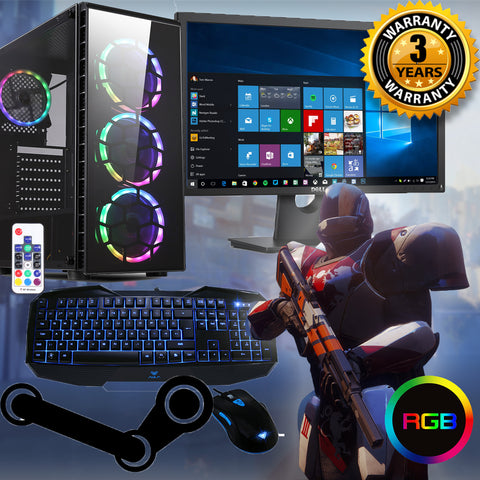 "RAIDER FULL PACKAGE GAMING PC GTX 1660 22"" SCREEN IDEAL 4 FORTNITE SPO AC175"