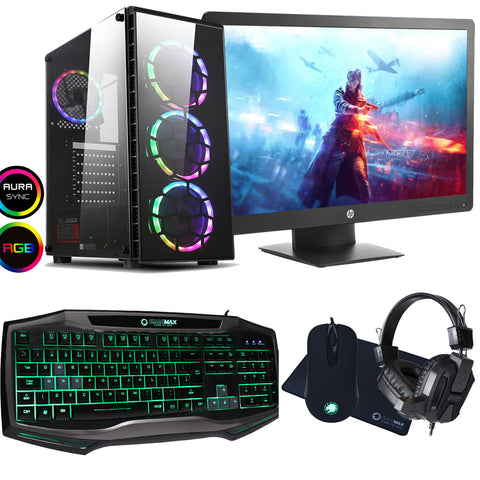 INTEL CORE I7 3770 GAMING PC 16GB GTX 1660 FULL PACKAGE WITH HEADSET