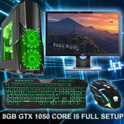 NEW!! Full Package Gaming PC 3330 GTX 1050 i5 22 inch screen & Gaming Set SPO 3yr warranty