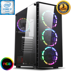 NEW!! Core i7 Colour Changing PC Tower GTX 1050 Ti 1TB + SSD SPO