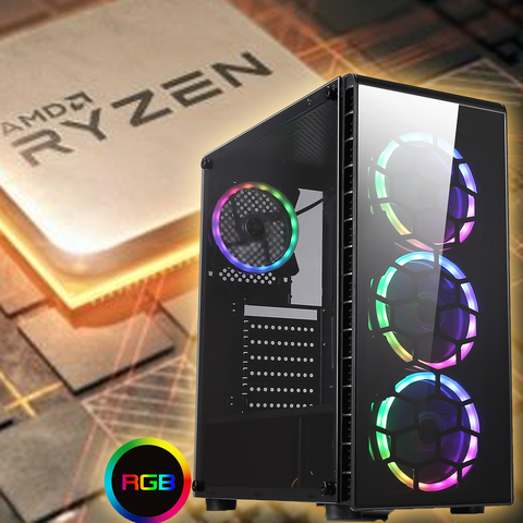 NEW!! Raider Ryzen 7 2700 16GB 8 Core Gaming PC with SSD GTX 1060 SPO