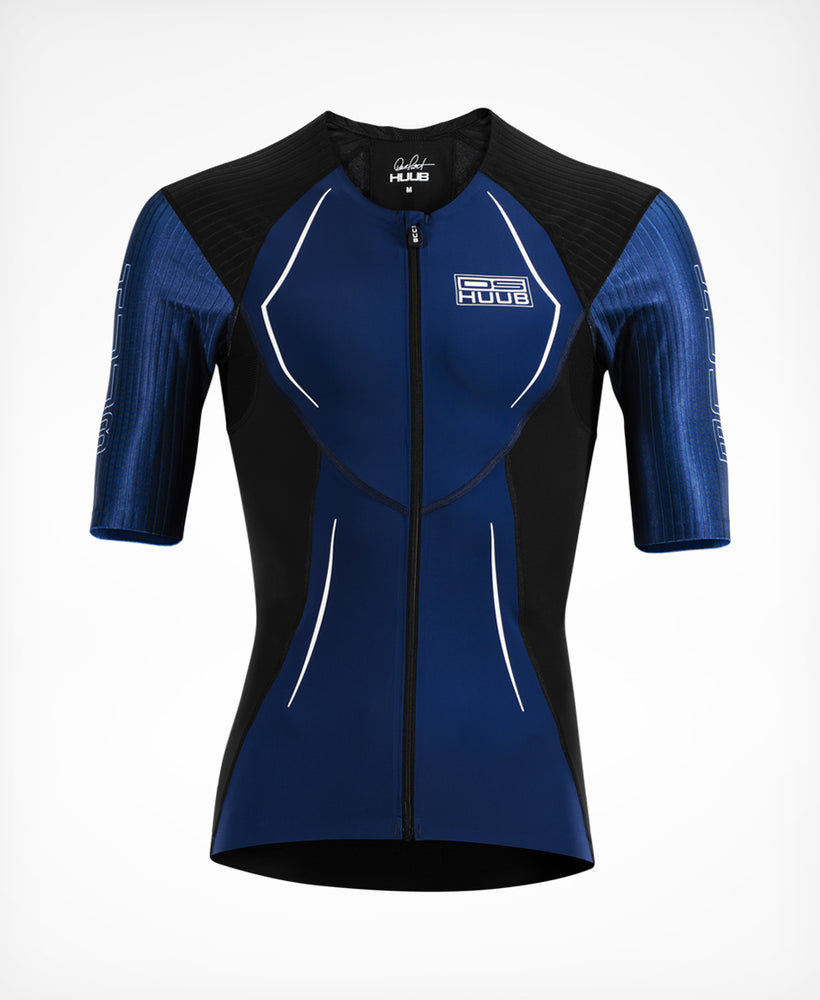 Dave Scott tri top long II navy - HUUB