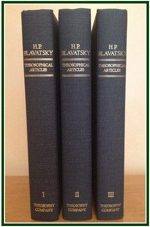 Theosophical Articles by H.P. Blavatsky (set of three volumes)
