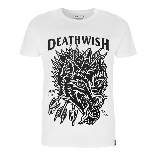 Deathwish - White / Black - Crew & Deep V Neck