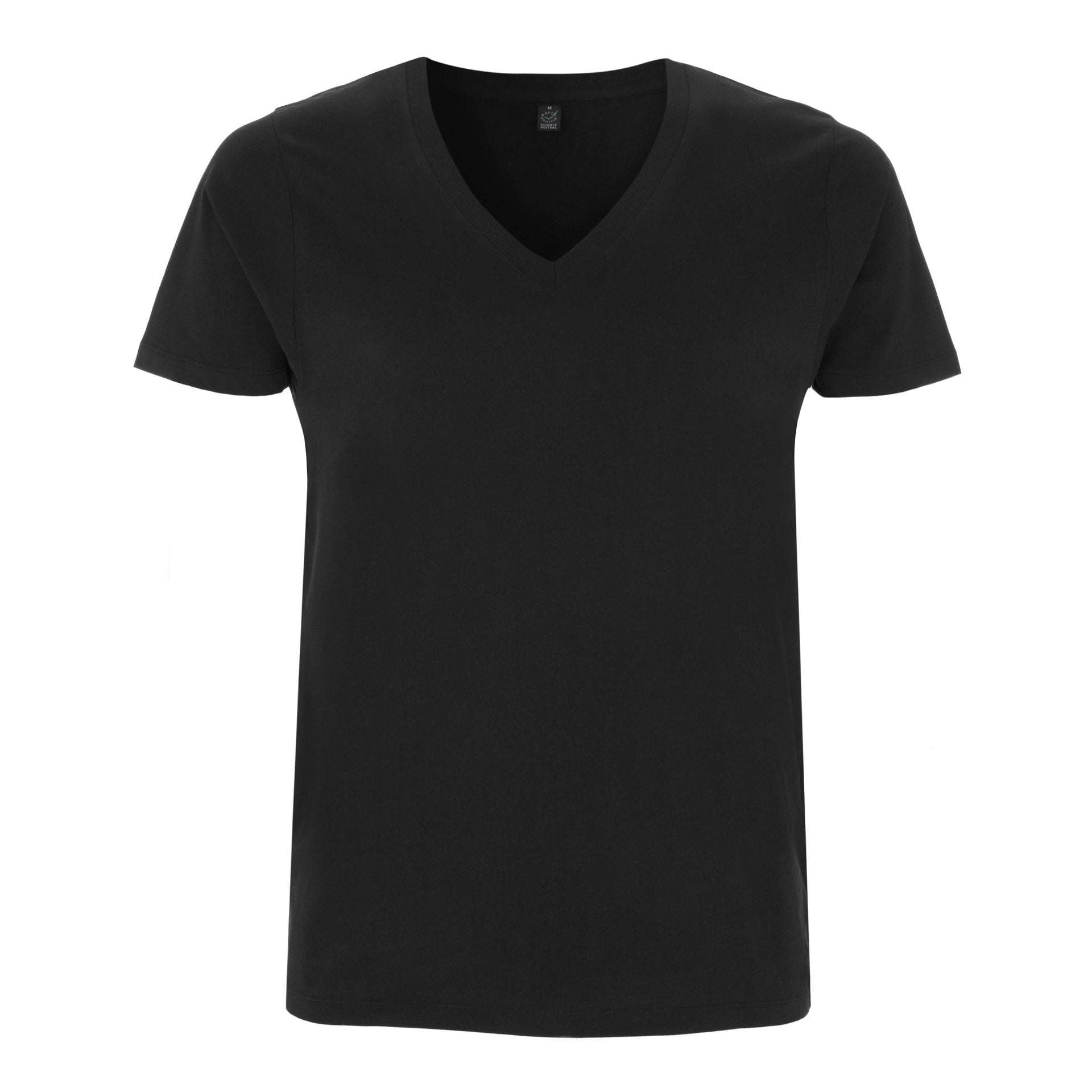 Organic Deep V-Neck - White & Black