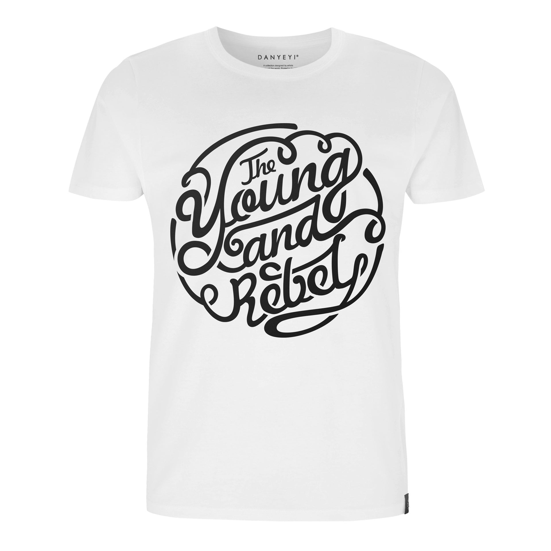 Rebel Youth - White / Black - Crew & Deep V Neck