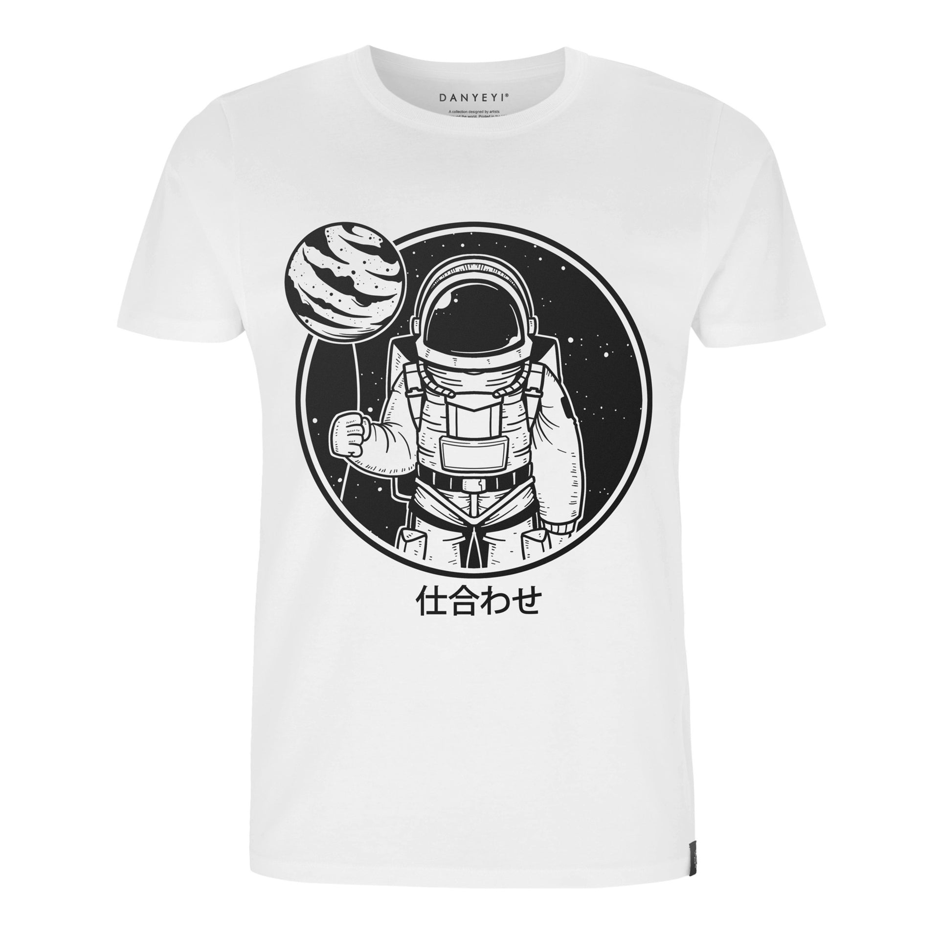 Spaced Out - White / Black - Crew & Deep V Neck