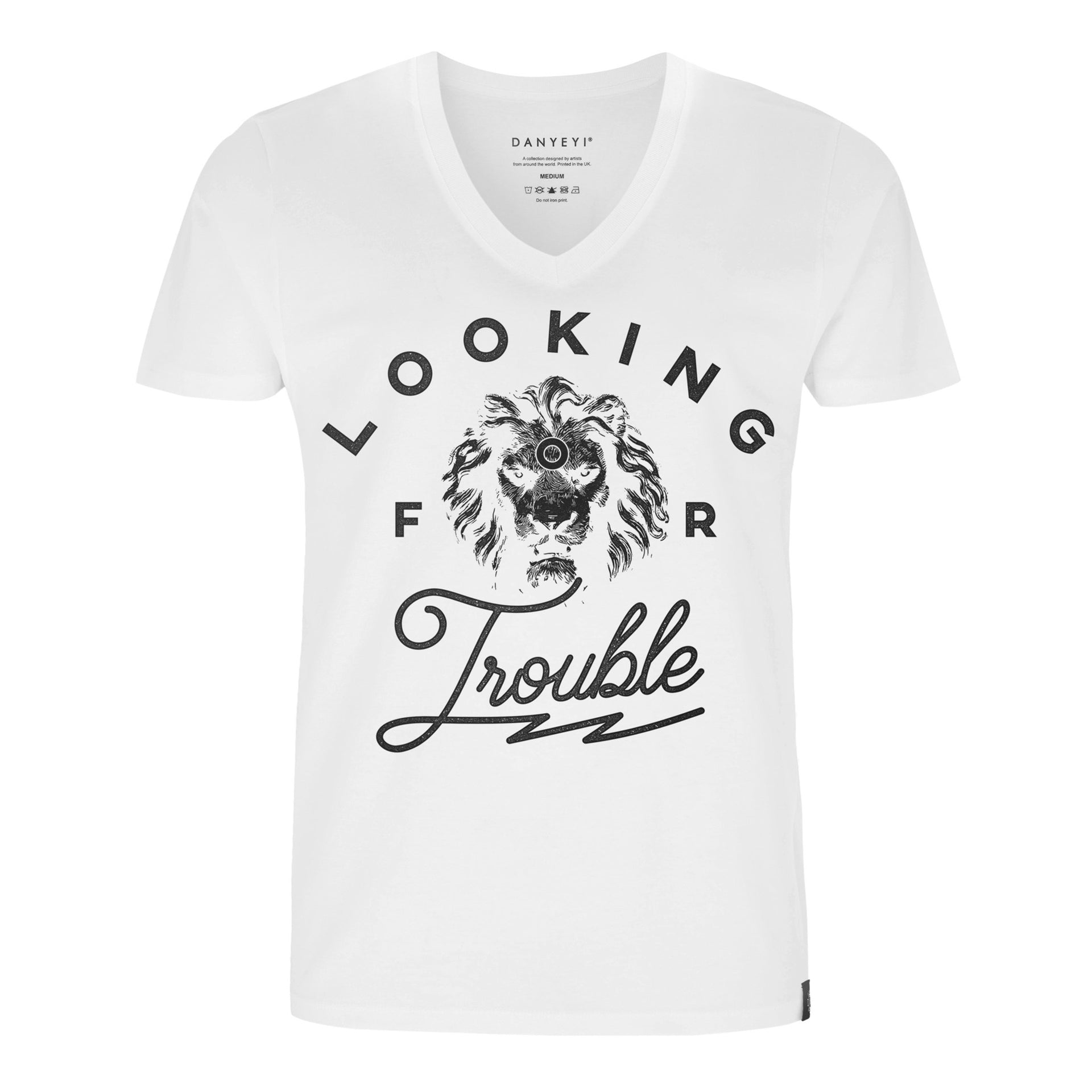 Trouble - White / Black - Crew & Deep V Neck