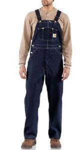 Carhartt Denim Unlined Bib Overall - Big & Tall