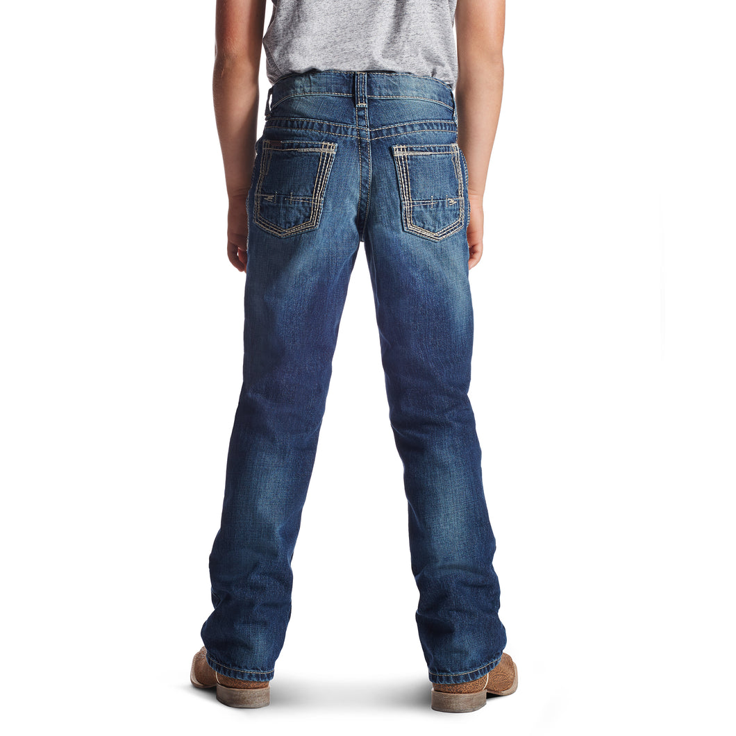 Ariat Boys' B5 Slim Boundary Stackable Straight Leg Jean