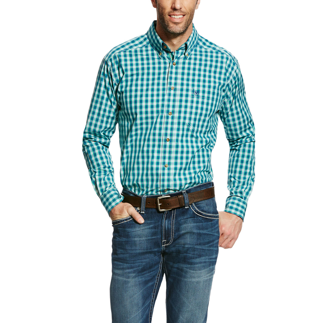 Men's Green Dimitri Plaid Shirt - 10022107