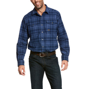 Ariat Men's Rebar Heavyweight Flannel Classic Fit Jameson Plaid