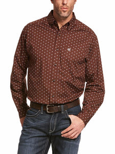 Ariat Men's  Adkison Stretch LS Shirt Shaved Chocolate