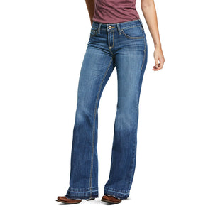 Women's Ariat Trouser Pefect Rise Stretch Talia Wide Leg Trouser