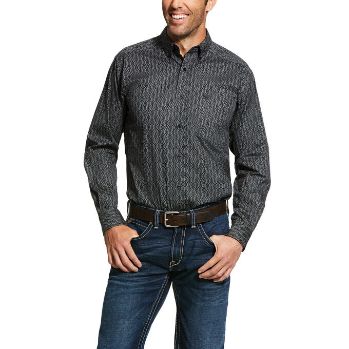 Men's Ariat Hopkinton Print Stretch Fitted Shirt