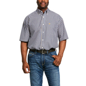 Men's Ariat Wrinkle Free Prattville Classic Fit Short Sleeve Shirt