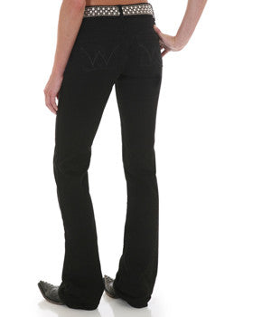 Wrangler Ladies Premium Patch Black Jeans - 10MWZQN