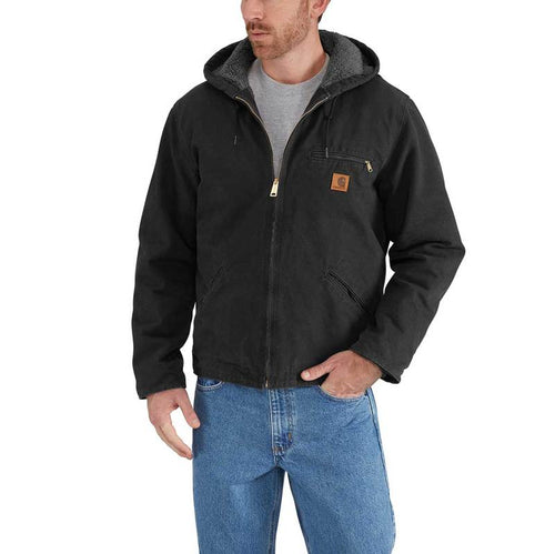CARHARTT® WASHED DUCK SHERPA LINED JACKET - J141