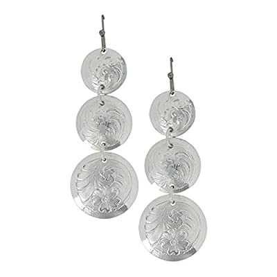 Montanna: Round Triple Concho Earrings