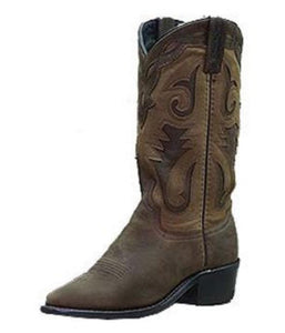 Sage Brown Distressed Boot - 4540
