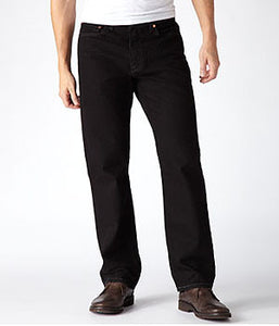 Levi's 505 Black Straight Fit Jeans