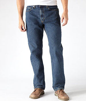 Levi's 505 Dark Stonewash Straight Fit Jeans