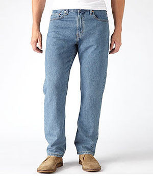 Levi's 505 Medium Stonewash Straight-Fit Jeans
