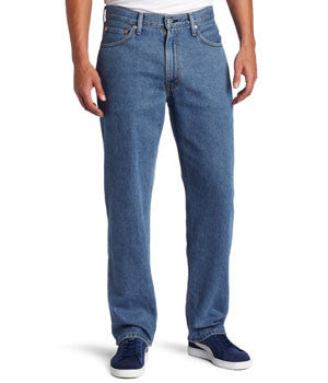 Levi's 550 Medium Stonewash Mens Relaxed Fit Jean