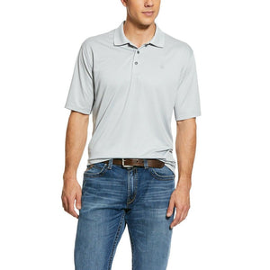 Ariat® Men's Fade TEK Harbor Mist Striped Jersey Polo Shirt