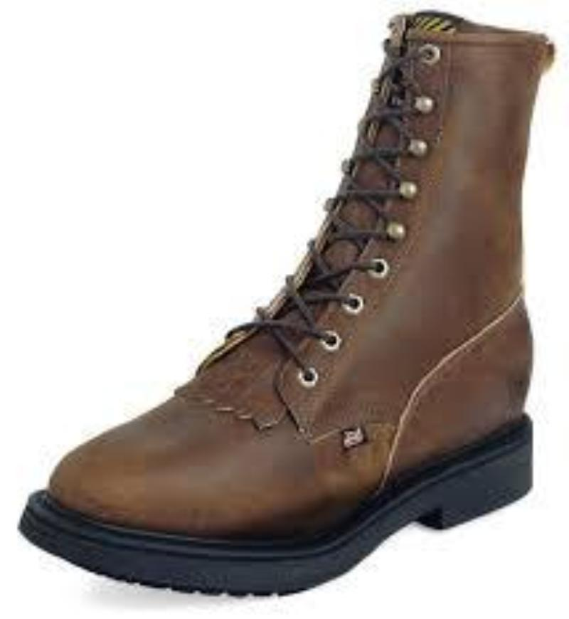 Justin Original Workboot Conductor Brown Steel Toe - 764